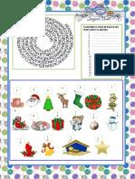Joyeux Noel Activites Ludiques Briser La Glace Feuille Dexerci 35671