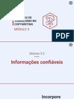 5.2 Informações confiáveis