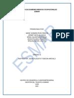 PROGRAMA EXAMENES MEDICOS OCUPACIONALES-ESMAR