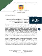 Rechazo a Amenazas de Muerte contra Obispo y Religiosa en Medellín