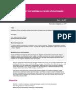 Programme Excel - Maitriser les tableaux croises dynamiques