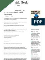 Reverting or downgrade PHP