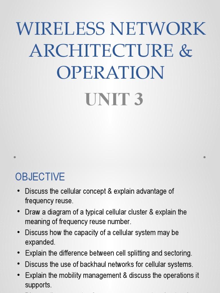 Unit 3 Cellular Network Mobile Technology Wireless Architecture Diagram