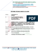INFORME TECNICO M&M 014-2020