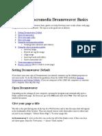 dreamweaver tutorial
