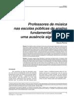 Professores de Música Nas Escolas Públicas de Ensino Fundamentale Medio Uma Ausência Significativa