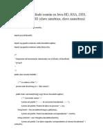 Cifrado - Descifrado Simétrico y Asimétrico