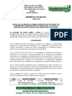 DECRETO No 016 MANUAL DE FUNCIONES SANTA MARIA ACTUALIZADO 2021