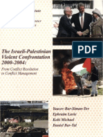 The Israeli - Palestinian Violent Confrontation 2000-2004