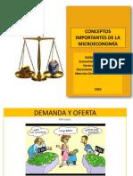 Unidad 3 Principio, Conceptos Importantes de La Microeconomía