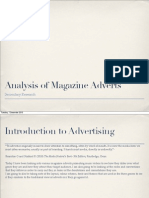 Analysis of magazine adverts