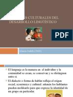Factores culturales del desarrollo lingüístico