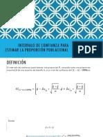 Intervalo de Confianza Para Estimar La Proporción Poblacional (1)