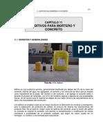 Cap. 11 - Aditivos Para Morteros o Concretos (1)