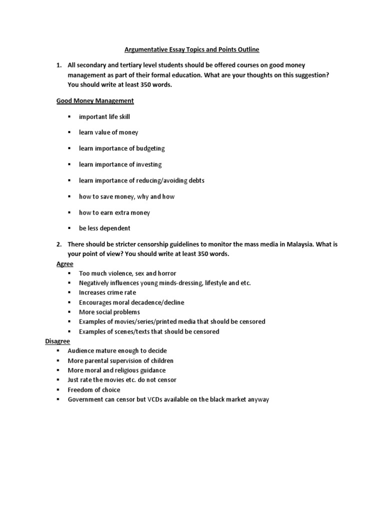 muet argumentative essay topics and points outline censorship muet argumentative essay topics and points outline censorship advertising