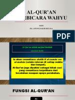 AL-QUR'AN BERBICARA WAHYU