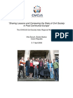 Sharing Lessons and Comparing the State of Civil Society in Post Communist Europe
