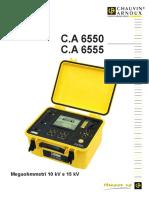 Manuale Duso CA6550 e CA6555
