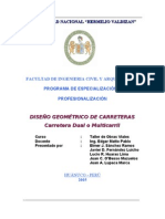 DISEÑO GEOMETRICO VIA MULTICARRIL