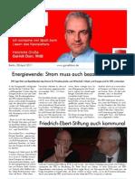 Newsletter April 2011 I