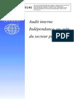 INTOSAI_GOV_9140_F_AUDIT_INTERNE_INDEPENDANCE_AU_SEIN_DU_SECTEUR_PUBLIC_