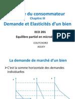 MICRO 2 Chapitre IV - Demande et Elasticites d'un bien_0