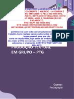 TEMOS PRONTO (32 991948972) Projeto de Vida e a Formação Integral Dos Sujeitos