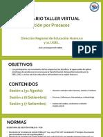 PPT DREUGEL Huánuco TallerProcesos DÍA 1 31082021