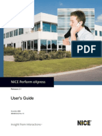 NICE Perform eXpress R2 User's Guide
