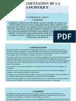 LA SEGMENTATION DE LA LOGISTIQUE (1)