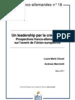 Un leadership par la crédibilité - Prospectives franco-allemandes sur l'avenir de l'UE