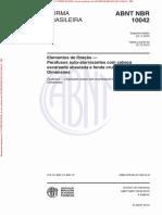 NBR 10042 de 112010 - Elementos de Fixação — Parafusos Auto-Atarraxantes Com Cabeça Escareada Abaulada e Fenda Cruzada — Dimensões