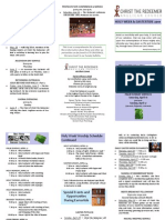 Holy Week and Easter Tide Brochure 2011