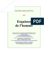 Alain - Esquisses de l'homme