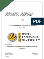 FIS Term Paper on DICGC