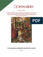 XVII Domingo Después de Pentecostés. Leccionario