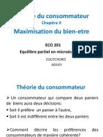 Chapitre II MICRO 2 - La Maximisation Du Bien-etre_0