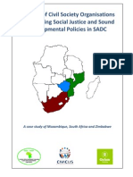 The Role of Civil Society Organisations in Promoting Social Justice and Sound Development Polices in SADC