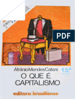 O Que é Capitalismo- Afrânio Mendes Catani