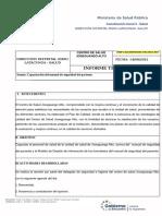 informe de capacitación del manual de seguridad del paciented