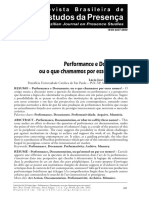 AGRA, Lúcio José de Sá Leitão. Performance e Documento, Ou o Que Chamamos Por Esses Nomes_ Rev. Bras. Estud. Presença, Porto Alegre, V. 4, n. 1, p. 60-69, Jan.%2Fabr. 2014.
