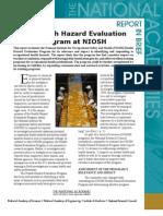 Health Hazard Evaluation Program at NIOSH, Report in Brief