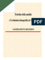 Il declino della natalità in Trentino e in Italia