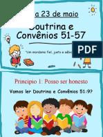 Aula Crianças Doutrina e Convênios 51-57