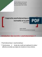 La psychodynamique 12 jan 2018