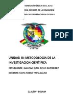 Inv. Educativa i Unidad 3-2020