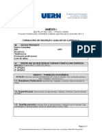 ANEXO I - Formulrio de Inscri‡ֶo - Sele‡ֶo de Alunos Especiais 2021.2