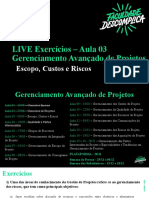 Live 3 GAP - Escopo, Custos e Risco