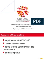 AIDS 2010 and Resources Available to Support Your Coverage of AIDS 2010 (Regina Aragon,)