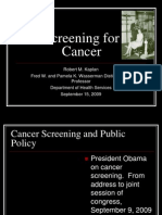 Screening for Cancer (Robert M. Kaplan, Ph.D)